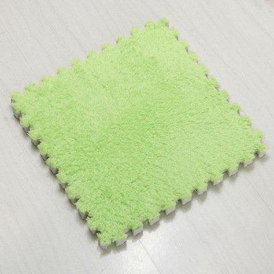Zui&xiaoyao Home Zuixiaoyao - Alfombra de juego de 36 piezas, diseño de puzle verde, cubierta de azulejos de suelo, con costuras de espuma, green 30*30*1
