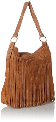 Bags4Less Damen Tipi Umhängetasche, 20x35x38 cm Braun (Cognac)