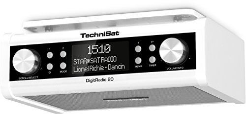 TechniSat DIGITRADIO 20 / Digital-Radio, Unterbau-Küchen-Radio, Uhrenradio, Timer, Kopfhörerausgang, Aux-in, weiß (Radio Küche)