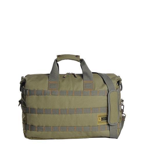 National Geographic - Borsa Da Viaggio In Cotone Con Logo Desert Verde 45X30X15 Cm