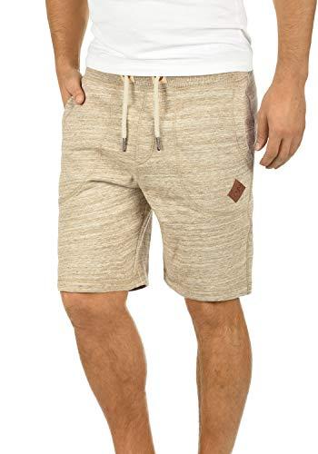 !Solid Aris Herren Sweatshorts Kurze Hose Jogginghose Mit Melierung Und Kordel Regular Fit, Größe:XL, Farbe:Dune (5409) -