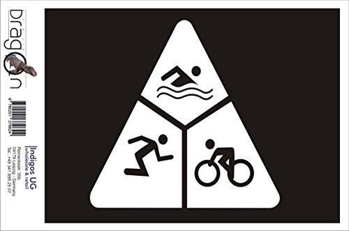 T-Shirt Herren - Run Bike Swim Triathlon Schwarz