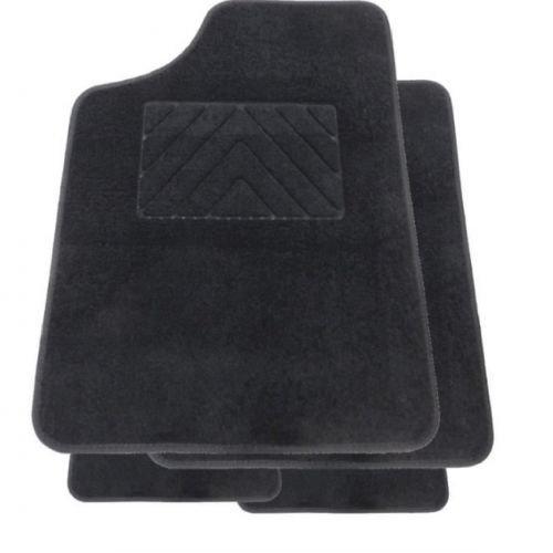 Tapis Auto ONE PLUS sur mesure pour SANDERO () - 2 avants + 2 arrieres - Noir - Moquette Aiguillete 550g/m2+ss couche 1150g/m2