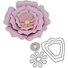 zmigrapddn Troqueles,Patrón de flores de múltiples capas Troqueles de corte plantilla moldes para hacer