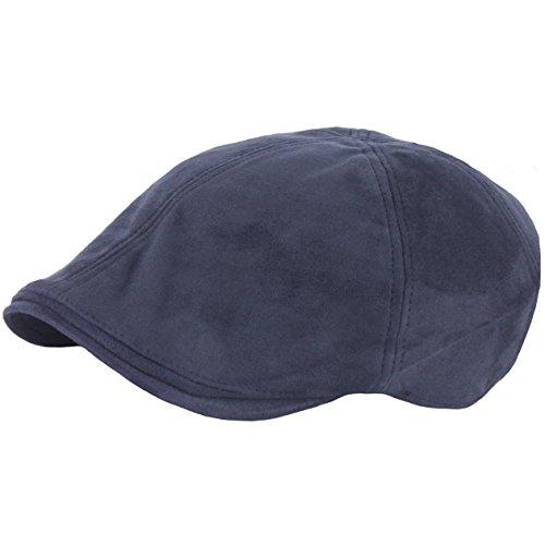 RaOn Ivy Cabbie Barett Flache Fahr Hut für Herren 7 1/8~3/8 7 (57cm ~ 59cm) Marine (Fahr-hüte Für Männer)