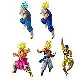 DRAGONBALL Versus DB SUPER - SP 02 - Complete Set 5 FIGURES Battle Figures - Bandai Gashapon