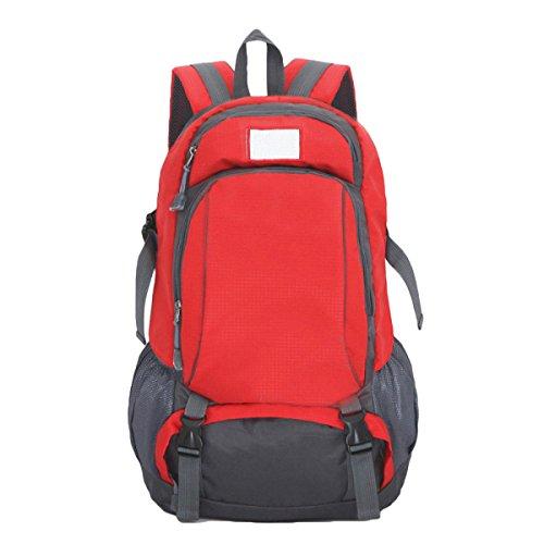 Outdoor Schulterbeutel Bergsteigen Taschen Freizeitsporttasche Männer Und Frauen,Green Red