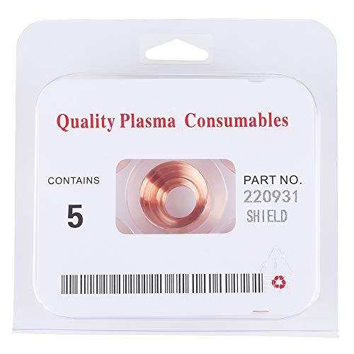 Zerone Plasmaschneider Cutting Shield Cap Verbrauchsmaterial Schweißwerkzeuge 220931 für MAX105 5St
