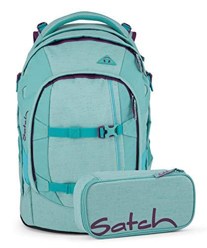 Satch Pack Schulrucksack Inklusive Schlamperbox, 30 Liter, 30 x 22 x 45 cm, Schulrucksack Set Lagoon Dive