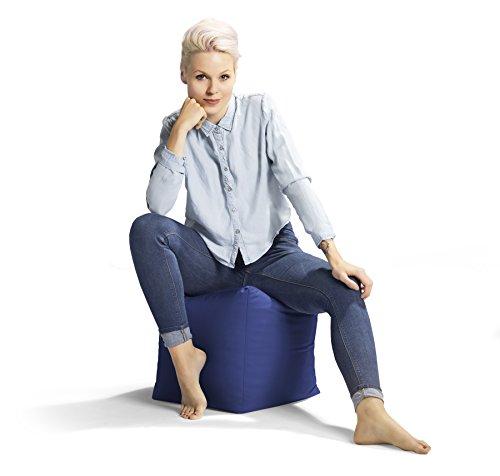 Jumbo Bag 30160-12 Repose Pieds Cube Polyester Bleu 40 x 40 x 40 cm