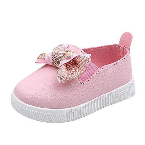 Jaysis Einfarbig Princess Shoes Bow-Knot Babyschuhe Hohe Qualität Mädchen Junge Baby Kleinkind Weben Sport Weicher Boden Elastisches Tuch Freizeitschuhe - Clarks Leinwand Sandalen