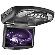 Carmedien Monitor Auto sospeso con lettore DVD per Automobile 10 Pollici, montaggio da tetto Schermo ad alta risoluzione con 1024x600 Pixel altoparlante interno trasmettitore IR e FM modulatore