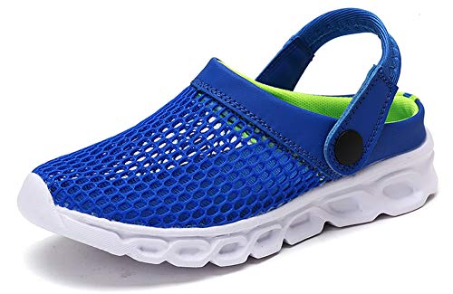 Yooeen Unisex Hausschuhe Clogs Sandalen Atmungsaktiv Mesh Pantoletten Outdoor Sommer Strand Schuhe Flache Rutschfest Bequem für Herren Damen Kinder - Kinder Geschlossene Clogs
