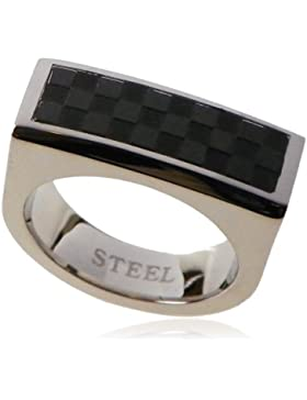 Orphelia unisex Stainless Steel Ring Schwarz IP-Plating