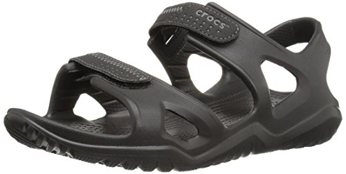 Crocs swiftwater river sandal men schiava uomo, nero (black), 42/43 eu