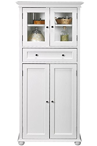Home Decorators Collection Hampton Bay Schrank, 1 Schublade, 4 Türen, Weiß - Hampton Schrank