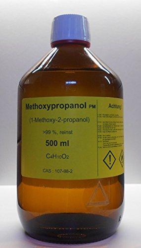 500 ml Methoxypropanol 99%, 1-Methoxy-2-propanol, Lösungsmittel für Druckfarben und wasserlösliche Kunstharze, Veredelungsmittel
