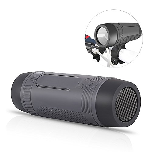 Preisvergleich Produktbild Bluetooth-Lautsprecher, Yarrashop® Bluetooth 4.0 Bike-Lautsprecher Tragbare Subwoofer Power Bank Wiederaufladbar mit LED-Licht für Outdoor-Sport mit Bike Mountain Brackets