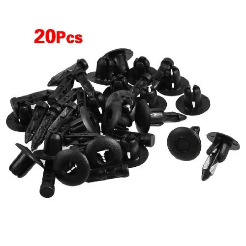 Preisvergleich Produktbild SODIAL (R) 20 Stueck 7mm Loch-Plastik Push-Schraube Rivet Verkleidung Panel-Befestigungsklammern