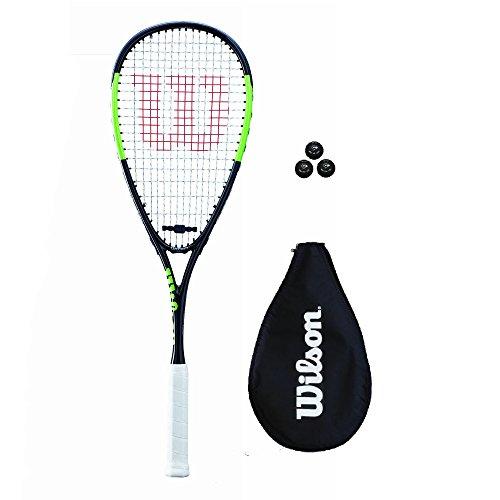 Wilson Blade Team Squash Racket + Cover + 3 Squash Balls