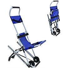 Silla de escalera de aluminio peso ligero ambulancia médico ascensor, silla de evacuación plegable escalera