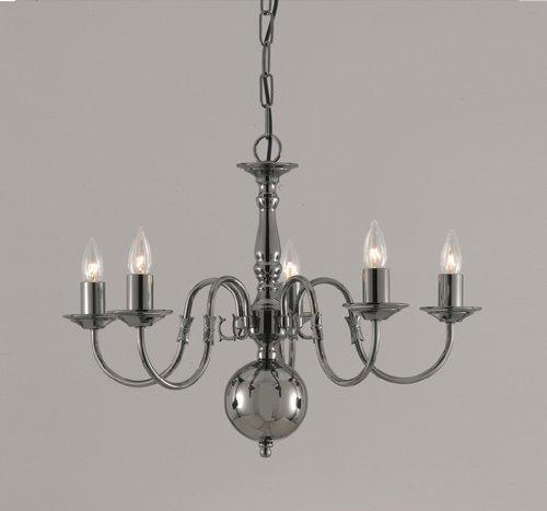 flemish-5-light-chandelier-pewter