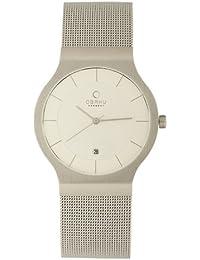 Obaku Harmony V133G CIMC - Reloj de caballero de cuarzo, correa de acero inoxidable color plata