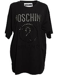 Moschino Femme J07045403555 Noir Coton T-Shirt