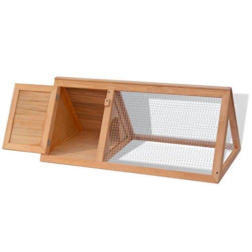 Festnight gabbia in legno per conigli