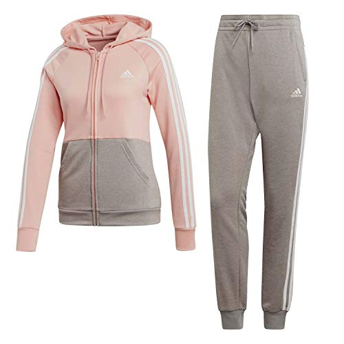 adidas Damen WTS Game Time Tracksuit, Glow pink/MGH solid Grey/White, L