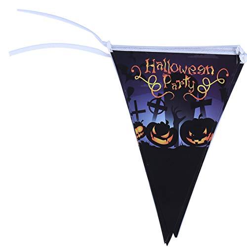 ekorationen Halloween, Kürbisschädel, Geister-Wimpel, Banner aus Papier, Party-Flaggen - 2# ()