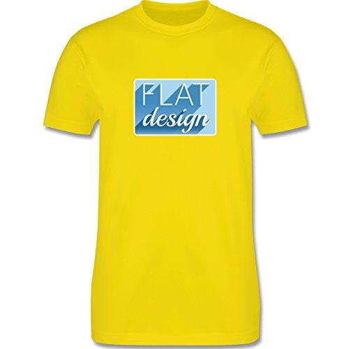 Nerds & Geeks - Flat design - Herren Premium T-Shirt Lemon Gelb