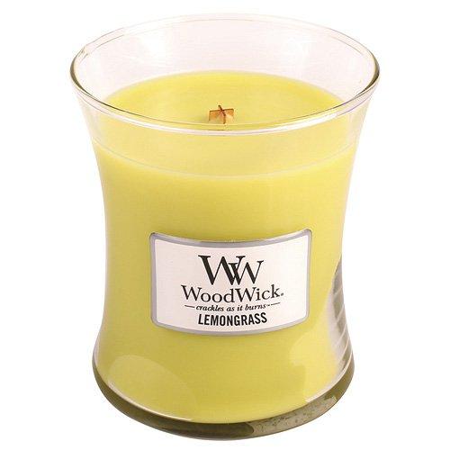 Woodwick 92114 Duftkerze im Glas mit Holzdeckel Zitronengras (Fancy Insekten Dress)