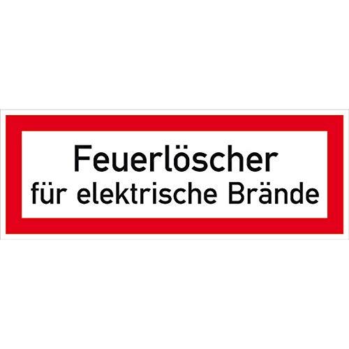 Hinweisschild Brandschutz Feuerlöscher für elektr. Brände, selbstkl.21x7,40cm