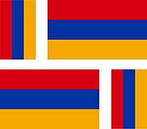 4 x Autocollant sticker voiture moto valise pc portable drapeau armenie armenien
