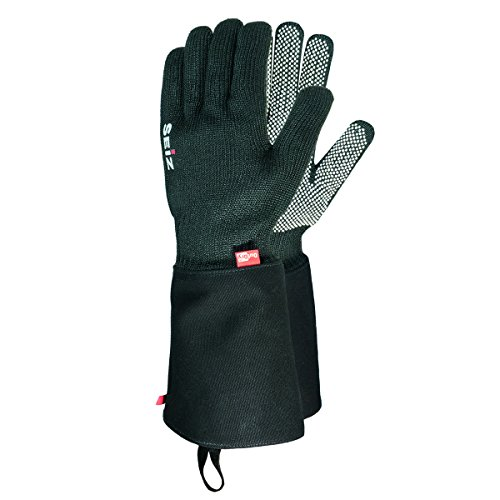 Profi-Grillhandschuhe, Handschuhpaar, Schwarz