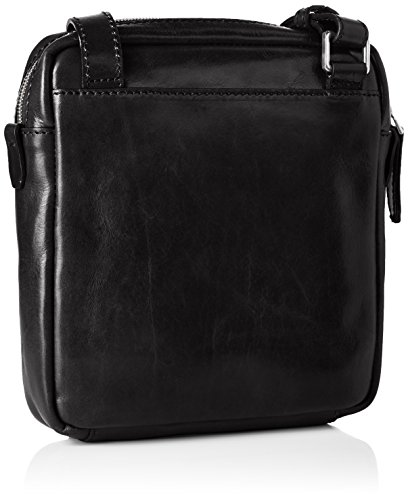 The Bridge Sfoderata Luxe Donna Sac bandoulière cuir 23 cm nero