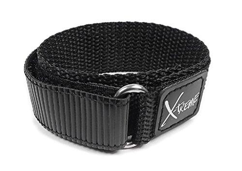 Minott para banda reloj de pulsera Textil banda banda Velcro Negro 18mm/20mm 22870