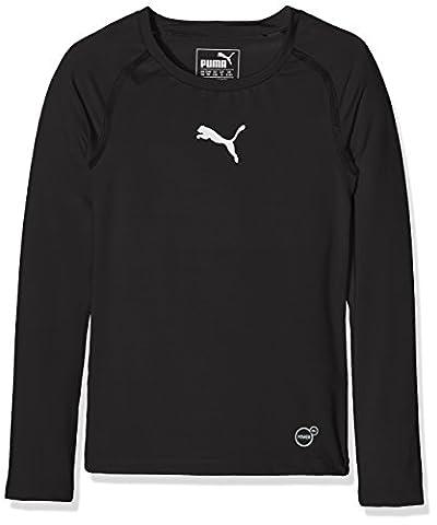 PUMA 654863 03 T-Shirt manches longues Enfant Noir FR : L (Taille Fabricant : 152)