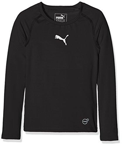 PUMA Kinder T-shirt TB Jr Long Sleeve Tee, black, 152, 654863 03 (Kid Tee Sleeve Long)