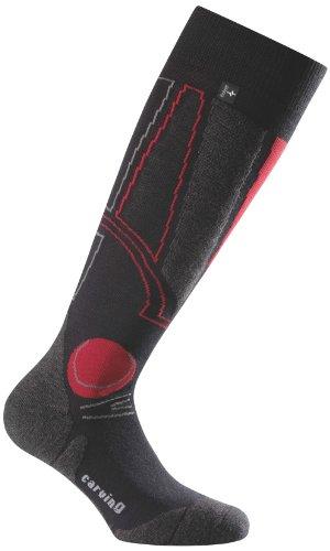 Rohner Socken Herren Socke Snow Sport Carving l/r, red, 44-46, 72_0083_ red