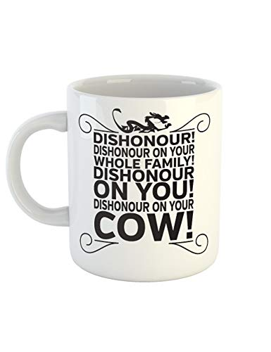 (clothinx Kaffeetasse mit Aufdruck Dishonour)