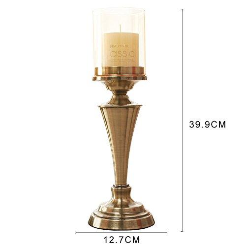 e Leuchter Inhaber Tischornamenten Candlelight-dinner Requisiten Einfache moderne Probe Zimmer Hochzeit Dekorationen, 39,9 * 12,7 cm (Halloween-dekoration Probe Gläser)