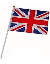 Bandera inShang, de mano Banderas de España España Inglaterra Alemania Irlanda Dinamarca Finlandia Grecia Países Bajos Noruega Polonia Rusia Suecia, (10pcs / paquete / un país solamente)