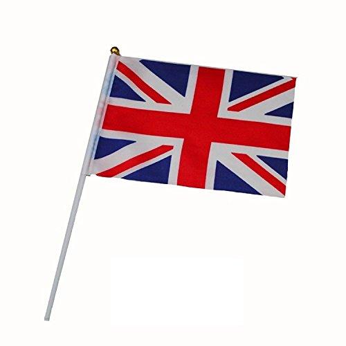inShang Flagge, Hand Flaggen für Deutschland England Spanien Irland Dänemark Finnland Griechenland Niederlande Norwegen Polen Russland Schweden (10pcs/package/nur ein Land)