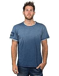 Chillaz Hombre Rigi Circled–Camiseta, Otoño-invierno, hombre, color indigo dark blue, tamaño extra-large