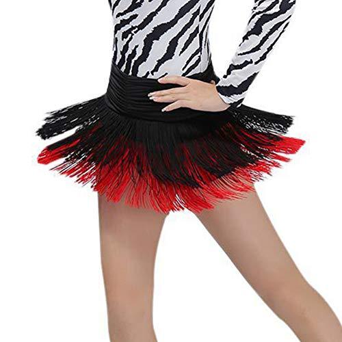 Latein Tanzkleid Fringe Rock für Frau und Mädchen Quaste Ballroom Latin Salsa Dance Performance ()