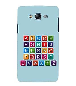 PrintVisa Alphabets 3D Hard Polycarbonate Designer Back Case Cover for Samsung Galaxy J5 (2015) :: Samsung Galaxy J5 Duos :: Samsung Galaxy J5 J500F :: Samsung Galaxy J5 J500FN J500G J500Y J500M