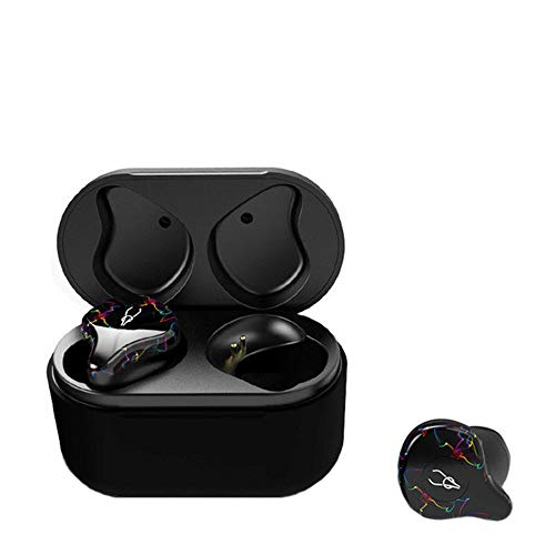 ZHHAOXINBT CuffieCuffie Bluetooth, Auricolari Bluetooth 5.0 6h Playtime Wireless con Microfono, Binaurale Call Auto Pairing, Auricolari Senza Fili con Custodia...