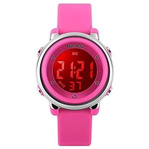 DistrictMaster Kinder und Jugendliche Uhr Digital Quarz mit Silikon Armband